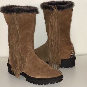 Sam Edelman Shoes - SAM EDELMAN Tilden chestnut suede fringe boots 8
